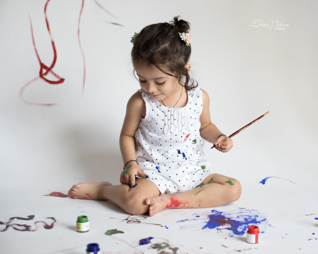 Kids love to do paint smashing