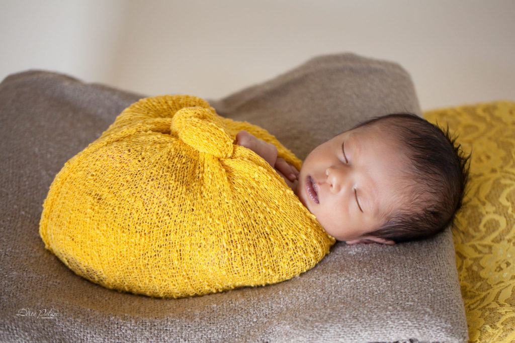 Handsome indian newborn boy