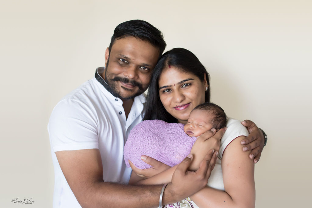 Beautiful family with newborn picture