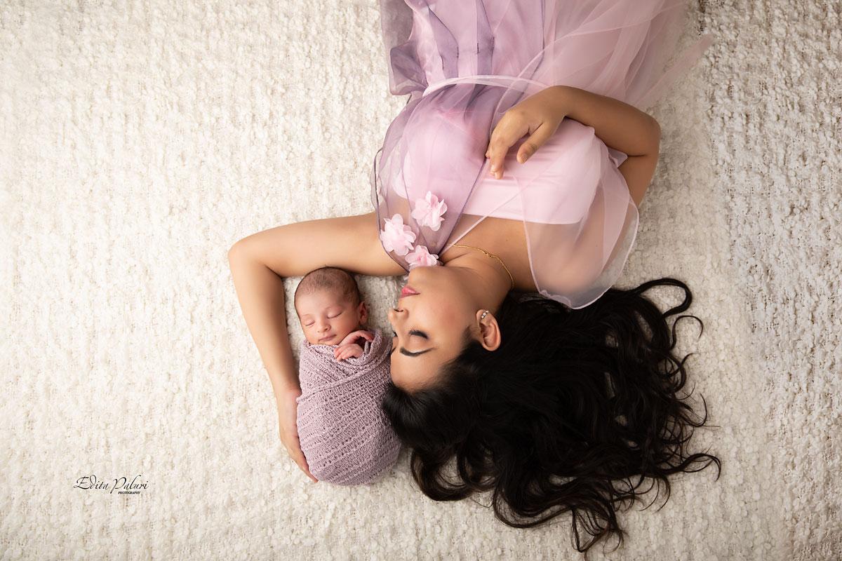 Mom and newborn photo