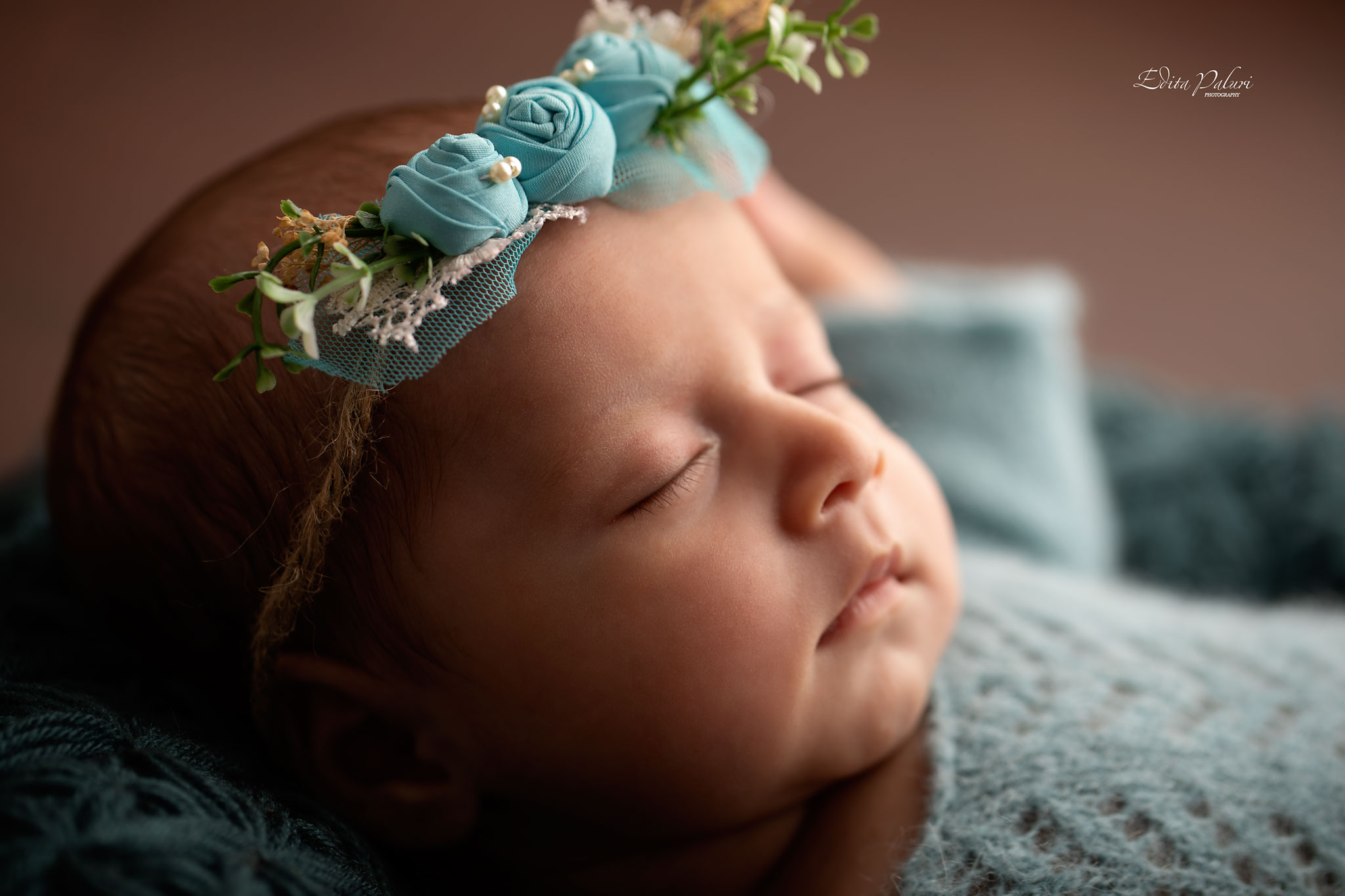 Backlit newborn picture
