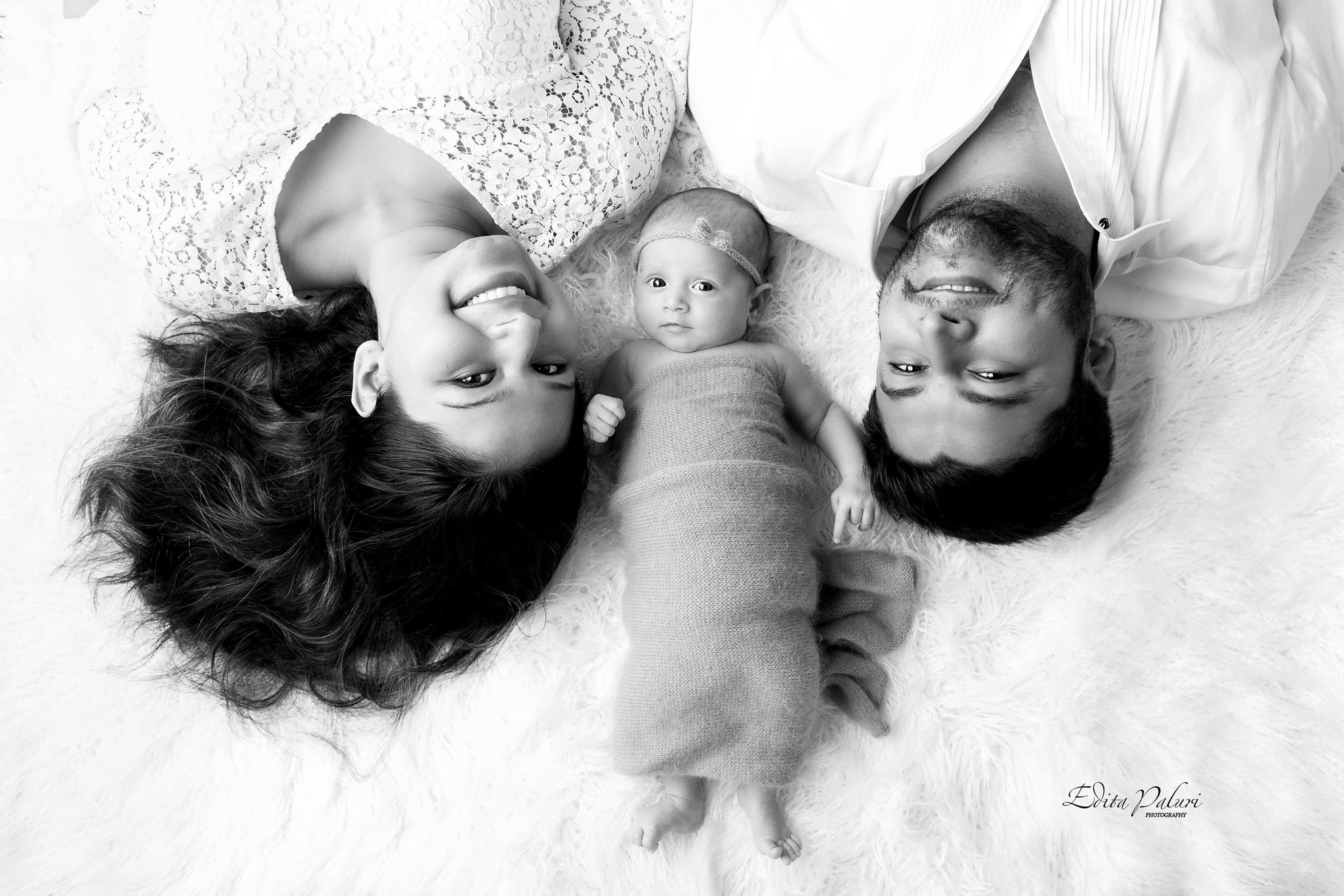 Family picture newborn baby