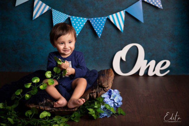 One year indian baby boy photoshoot in Pune