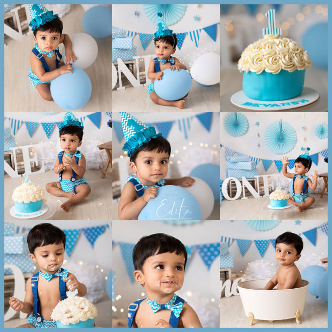 Cake smash baby boy in Pune photography by Edita