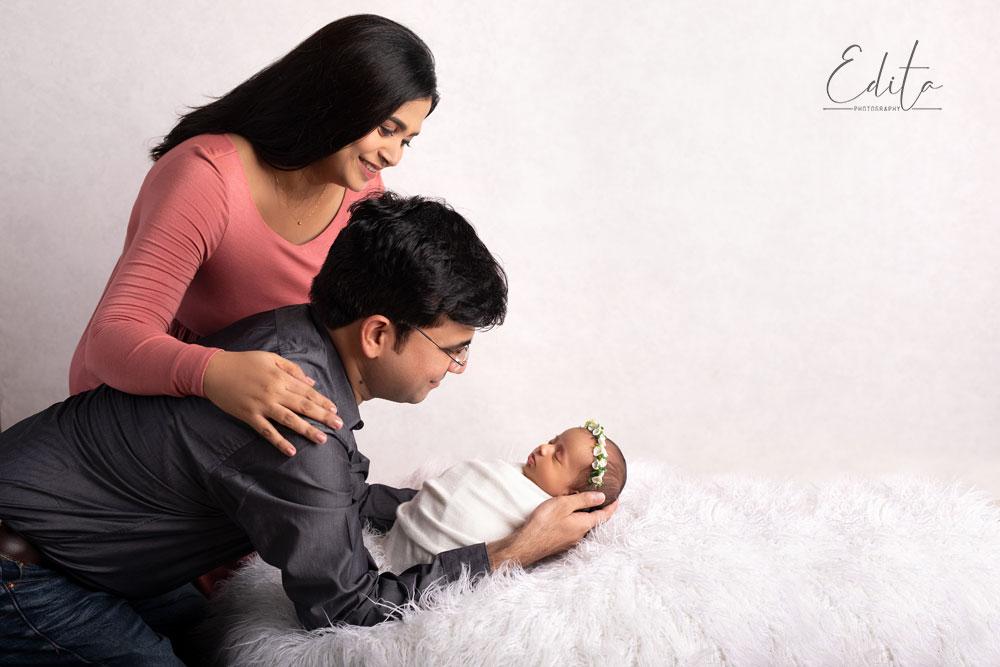 Newborn and family photo
