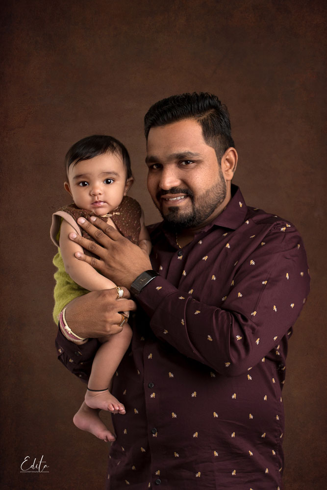 baby boy with father photo