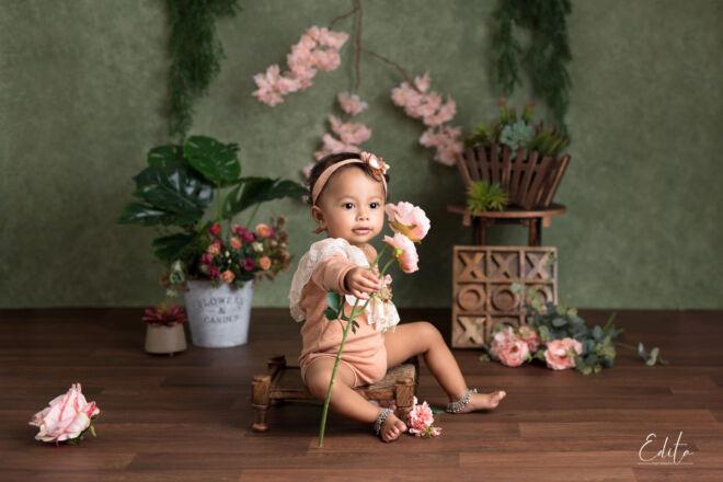 1st baby birthday photo shoot