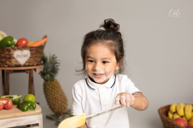 Toddler chef cook photo shoot in Pune